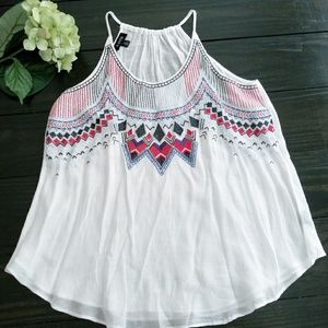 A. Byer - embroidered tank top size medium